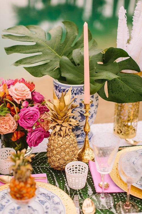The pineapple in Interior Design - Image via Brides Magazine