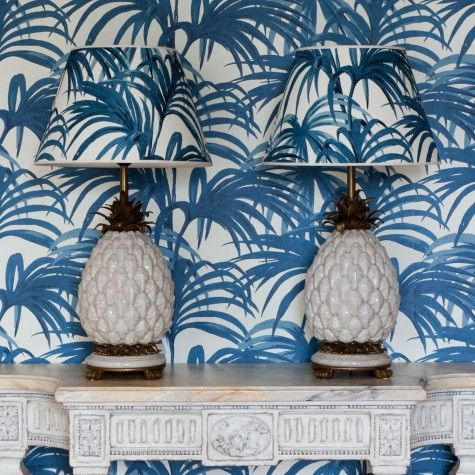 The history of the pineapple in interior design   - Image via  House of Hackney