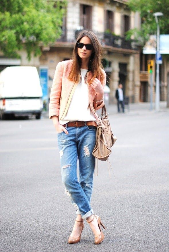 Neutral colored shoes and bags perfectly shift your wardrobe to warmer days