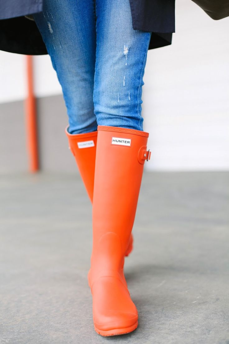 With the melting snow and spring showers, bright, colorful wellies are always in style!