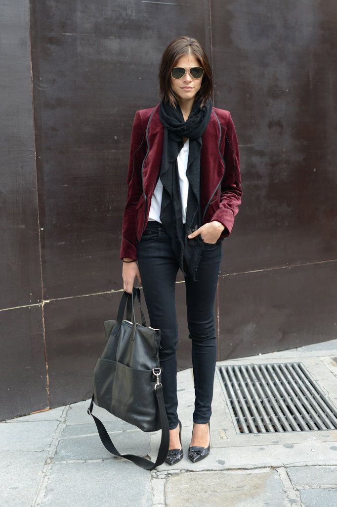 Take off the boots and show a little skin! Winter fabrics like fur, leather and velvet can still be worn for a while.
