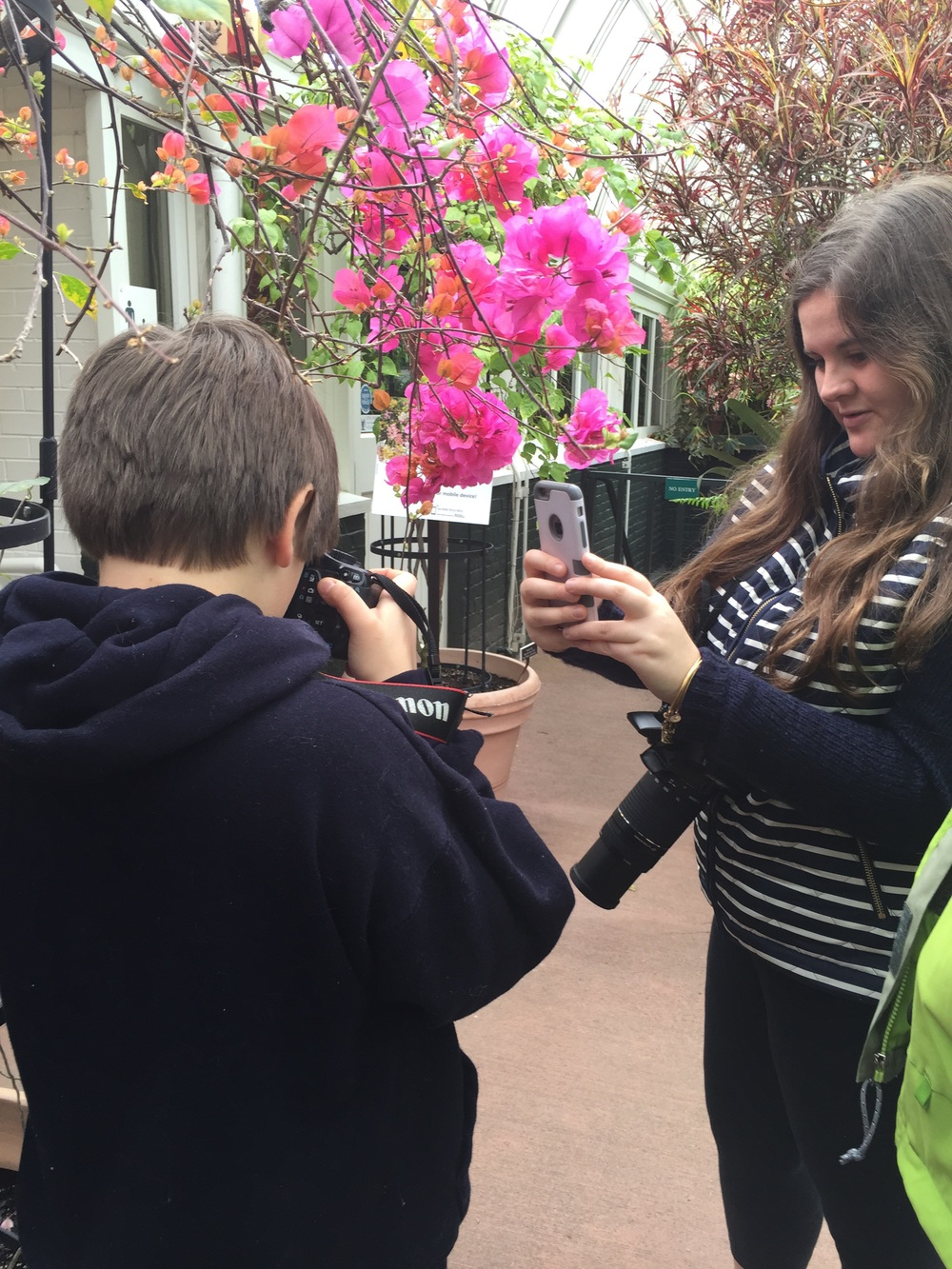 Kids and flowers and social media do mix!
