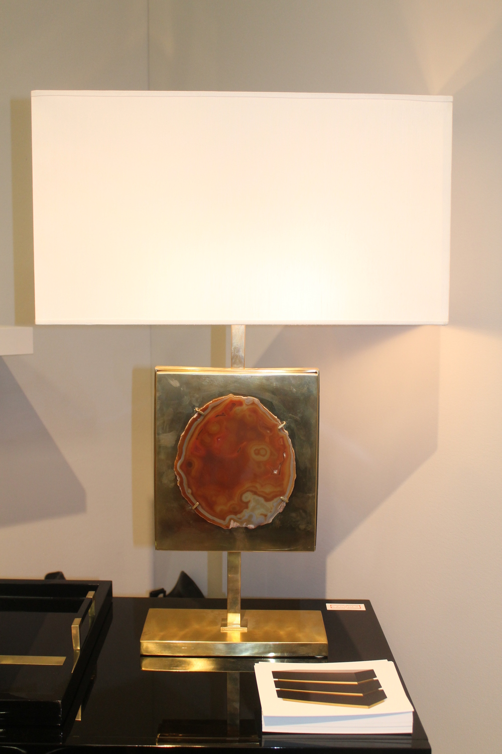 I loved this lamp. I don't know who the designer is but it was on display with The Lacquer Company.
