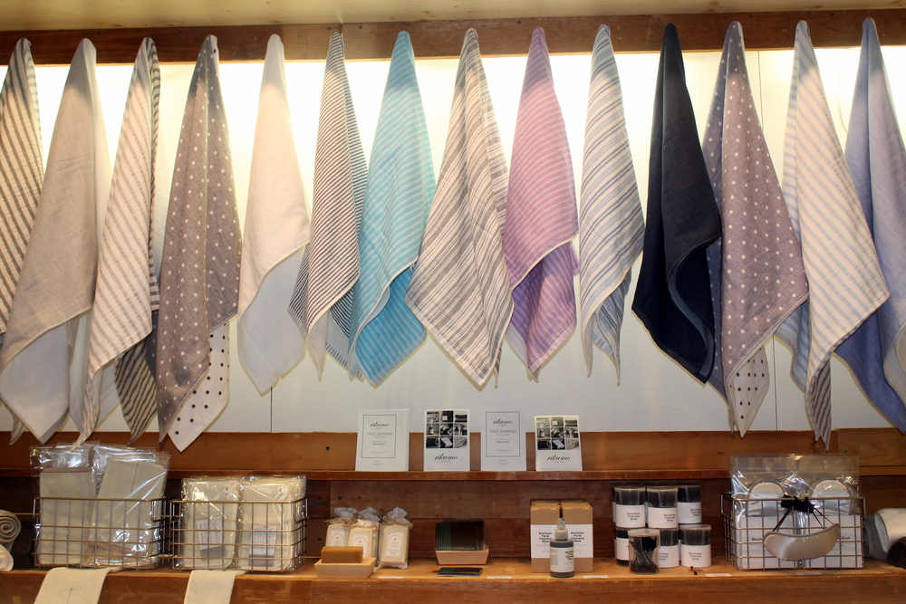 Gorgeous linens and home accessories from Japanese-made Rikumo.
