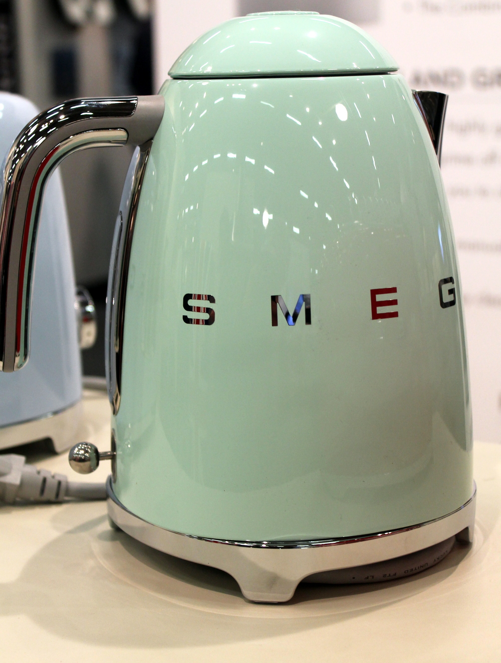 Smeg  is an Italian company has captured my heart and attention. What beautiful design and such graceful looking products ranging from tea kettles to blenders and mixers to ovens to beverage coolers. I will write more on them at a later time.