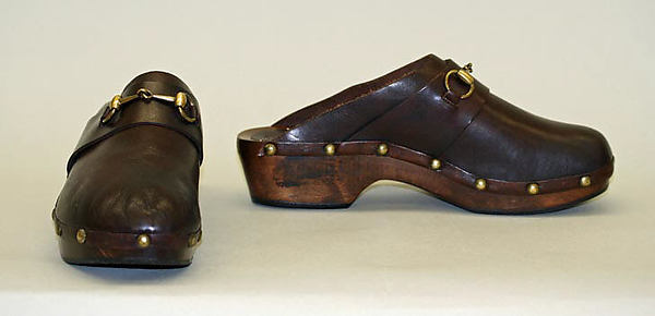 Are these 1970's Gucci clogs totally rad? Image via The Metropolitan Museum of Art