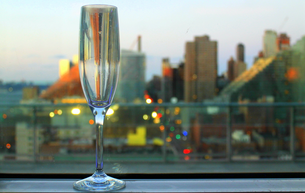 """Prosecco and the City"" - Atop the ink48 Hotel in the Press Lounge. Image property of The Entertaining House."