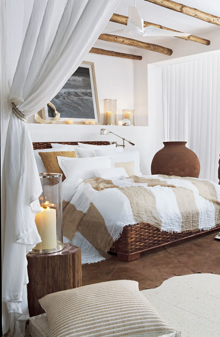 Ralph Lauren, master of relaxed elegance showcases this welcoming wicker bed in his Ralph Lauren Home line.