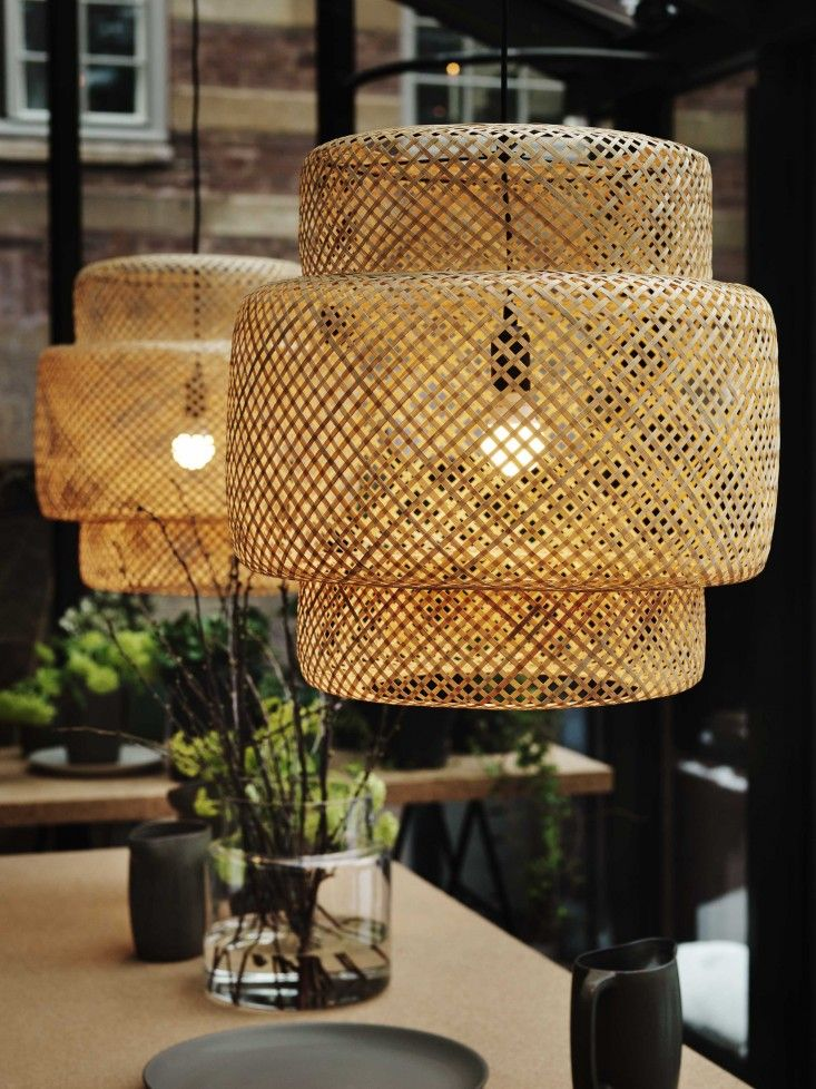 Remodelista introduced readers to these incredible IKEA wicker lamp shades.