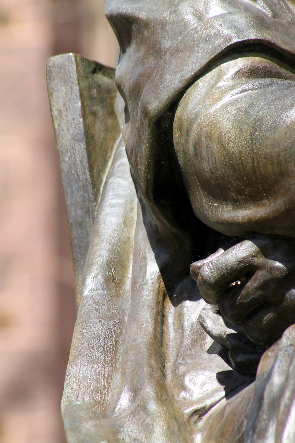 Yale University, Statue detail, Theodore Dwight Woolsey. Image property Jessica Gordon Ryan