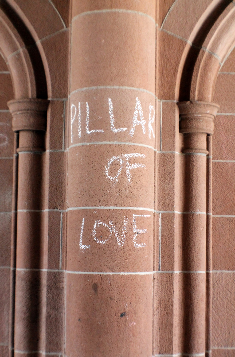 """Preppy Graffiti"" Yale University  . Archway leading to the Vanderbilt dorms. I  mage property Jessica Gordon Ryan"
