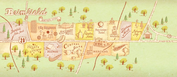 Map of Brimfield Courtesy Yankee Magazine