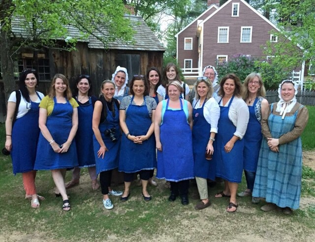 Here I am (front and in black) pictured with the women of Yankee Magazine, New England Living, The Daily Basics, The Kitchen Design Network, Jean, Ryan and Victoria - our Colonial Hosts