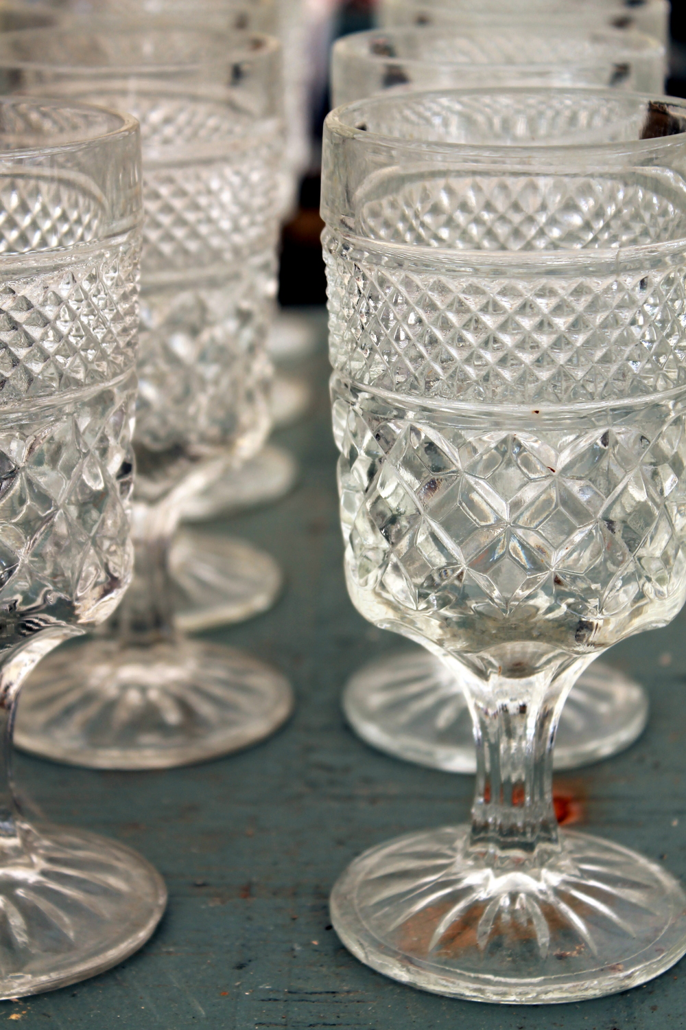 Add to your existing barware with some fun vintage Depression era glassware.