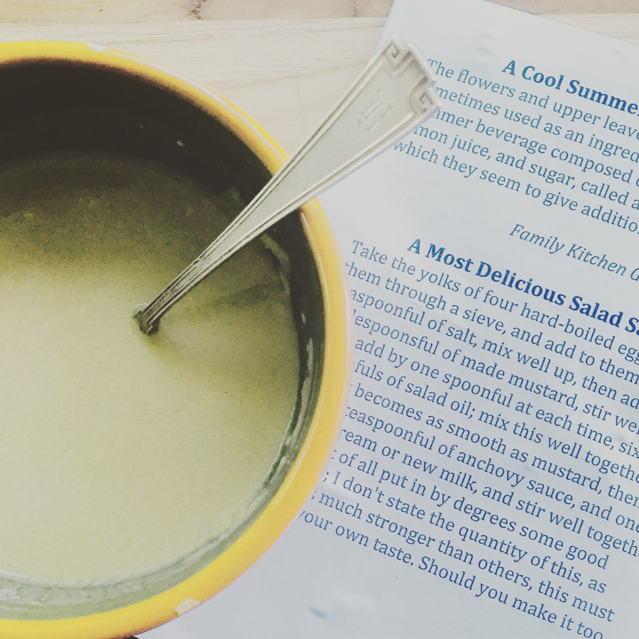 A Most Delicious Salad Sauce - Recipe from Old Sturbridge Village. Property The Entertaining House/Jessica Gordon Ryan