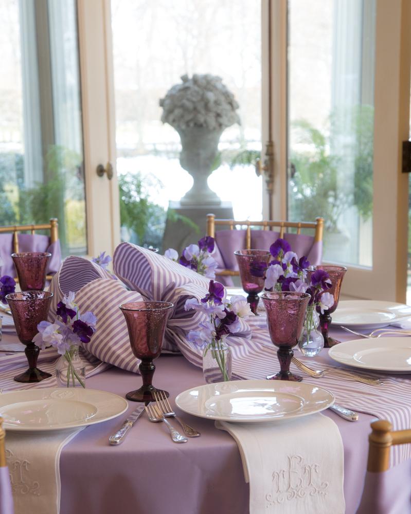 Bettie Bearden Pardee's elegant and festive Easter table. Images property of Bettie Bearden Pardee