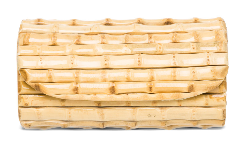 J. McLaughlin Bamboo Clutch, $155