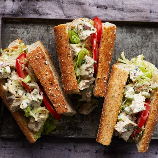 Food & Wine  has a recipe for chicken salad sandwiches that are above and beyond the ordinary. (It's all in how you poach the chicken!)