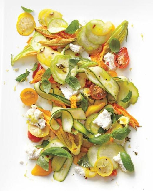 From the garden to the plate. 15 zucchini recipes. Image via Martha Stewart