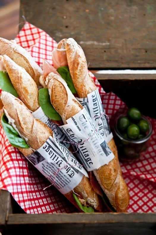 Anything tastes good in a baguette! Simply buy baguette and fill with whatever you wish! Image via  Tartlette