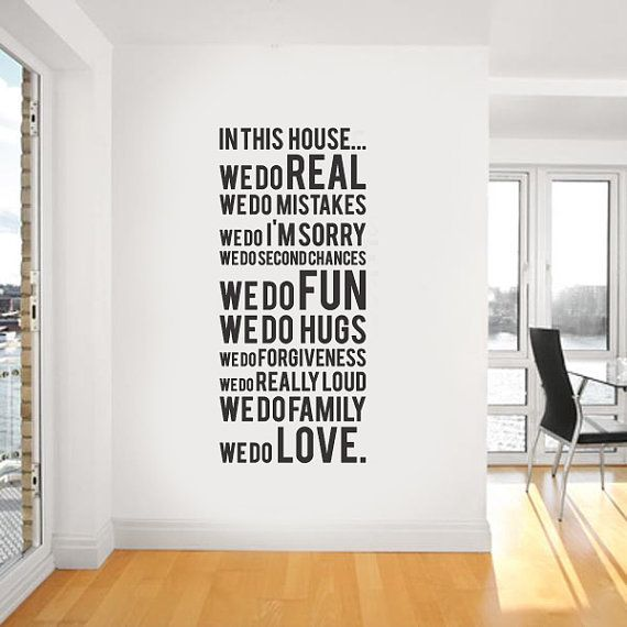 Simple steps to ensure you are a welcome houseguest. Learn the house rules. Decal and image via etsy.