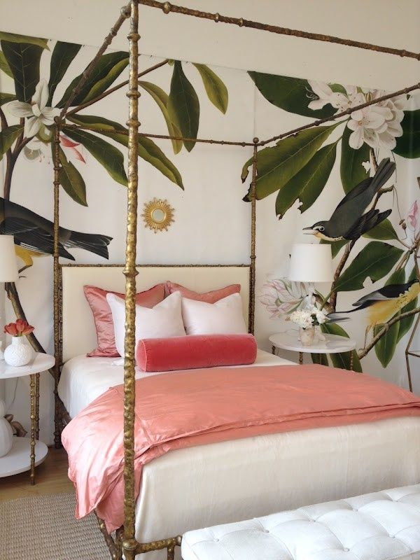 A gracious houseguest makes the bed every morning. Image by  Design Gratis