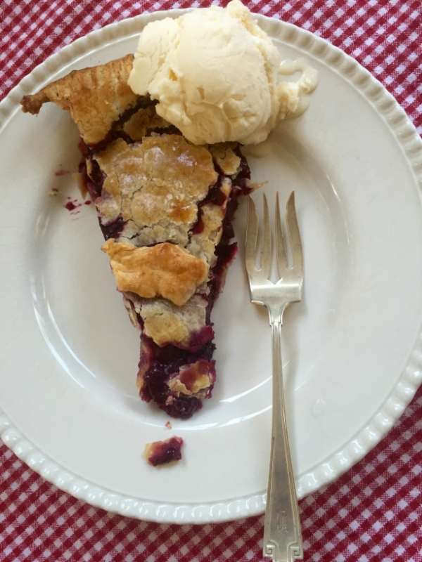 Simple Blueberry Pie. The Entertaining House. Image via Jessica Gordon Ryan