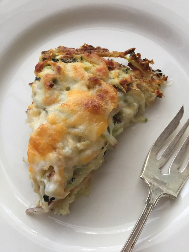 Zucchini, potato and onion frittata - A healthy quiche alternative. Via The Entertaining House