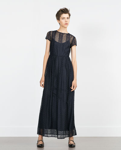 Eyelet Maxi dress by Zara