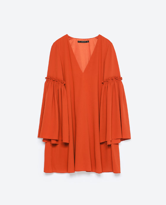 Orange Dress by Zara