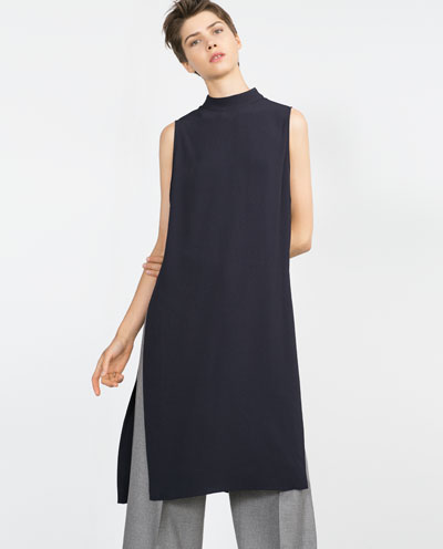 Long black Tunic by Zara