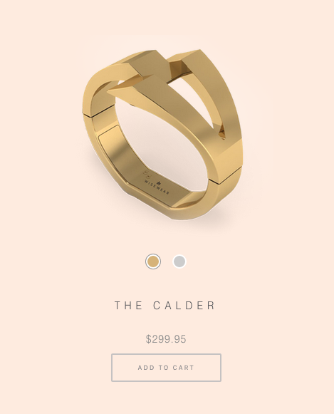The Calder Activity Tracking Bracelet via Wisewear
