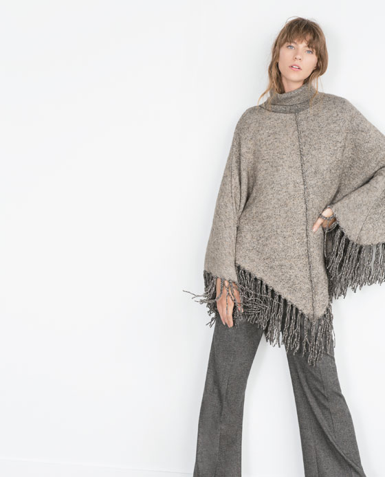 10 Stylish Ponchos :: The Entertaining House. Image via Zara