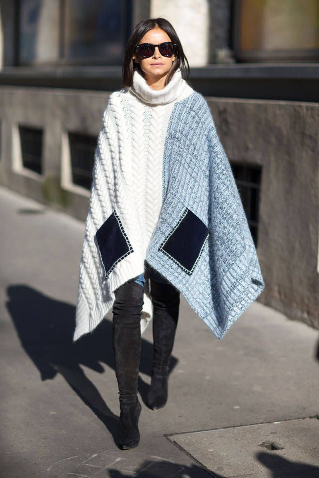 10 Stylish Ponchos :: The Entertaining House. Image via Harper's Bazaar