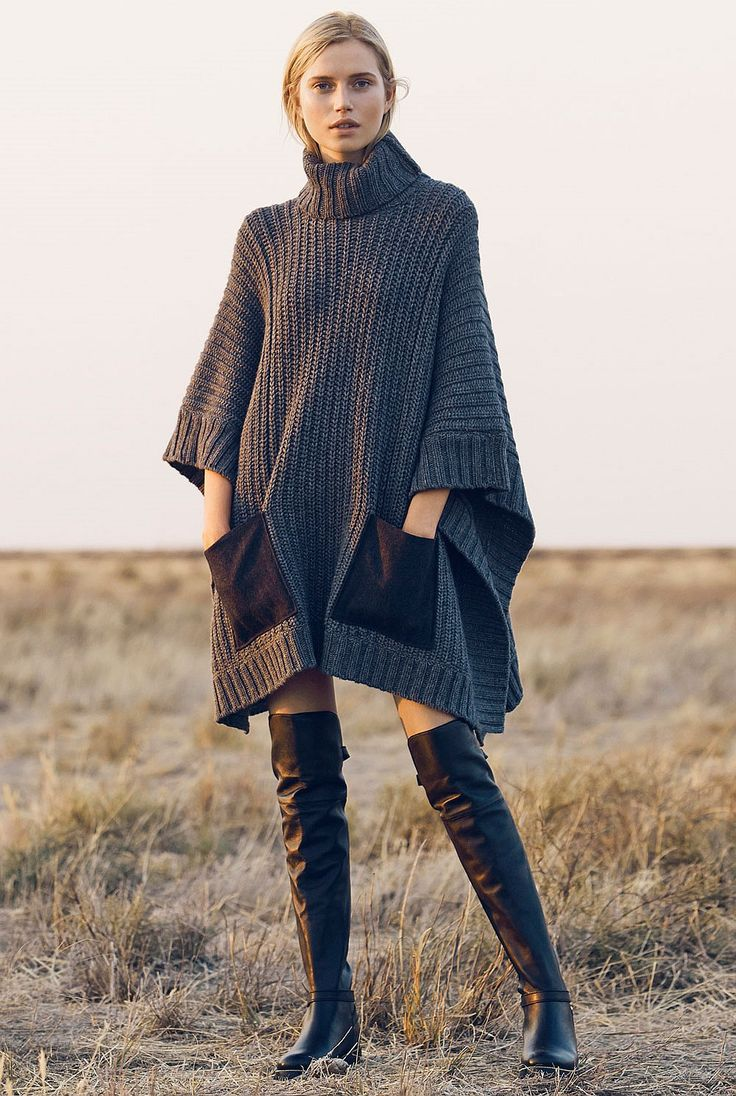 10 Stylish Ponchos :: The Entertaining House. Image via Country Road Australia