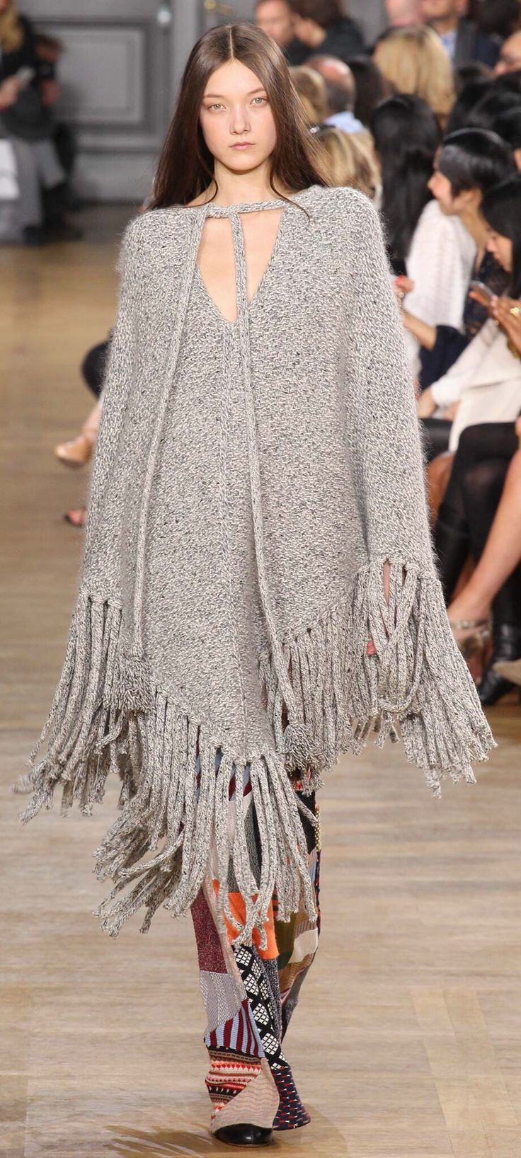 10 Stylish Ponchos :: The Entertaining House. Image via Vogue