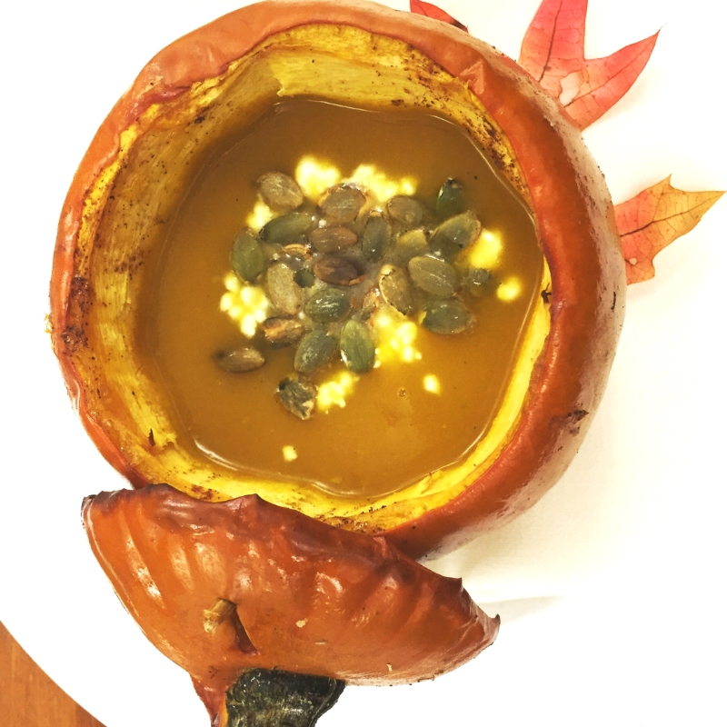Oven Roasted Sugar Pumpkin Bisque. The Entertaining House