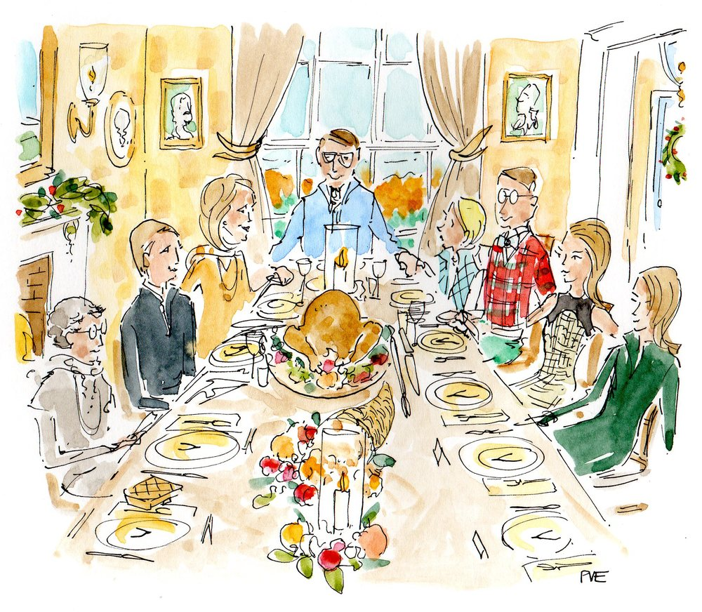 What to do if your Thanksgiving dinner doesn't turn out as planned. Image via The Entertaining House. Property of Patricia Van Essche/PVE