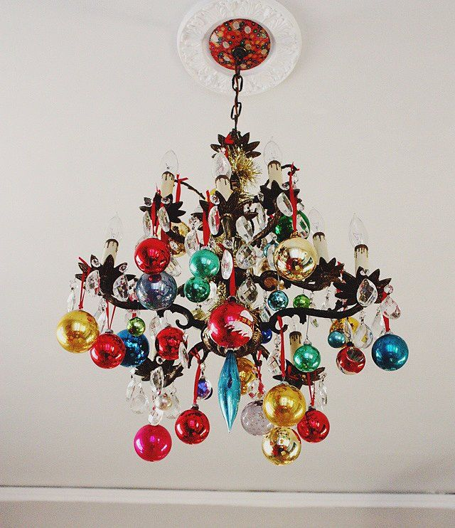 Decorating for the holidays :: Creative ways to use ornaments. The Entertaining House. Decorating for the holidays :: Creative ways to use leftover ornaments. The Entertaining House. Image via  Pop Sugar .
