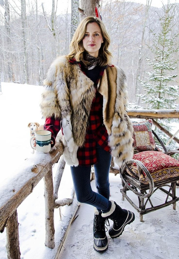 Cabin Chic - Amanda Brooks, Image via Vogue