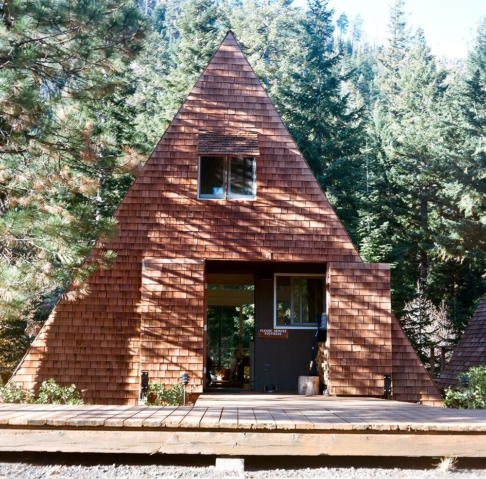 Architecture Crush - The A-Frame House. The Entertaining House. Image via  Cabin Porn .
