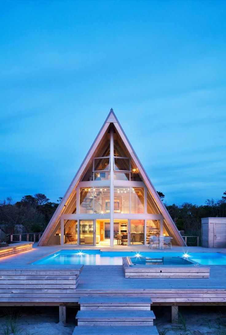 A-Frame Architecture. The Entertaining House. Image via  Bromley Caldari.