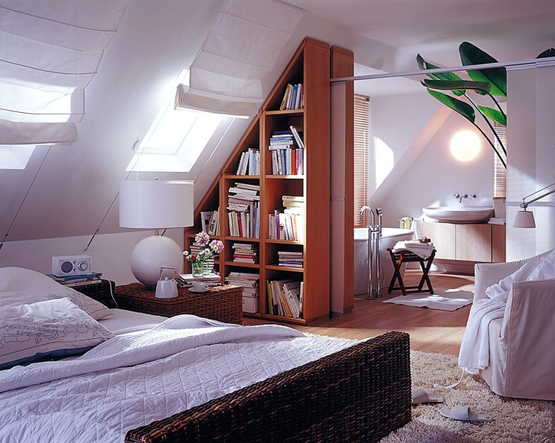 13 Sublime Attic Transformations - The Sky's the Limit! The Entertaining House. Image via  Domino