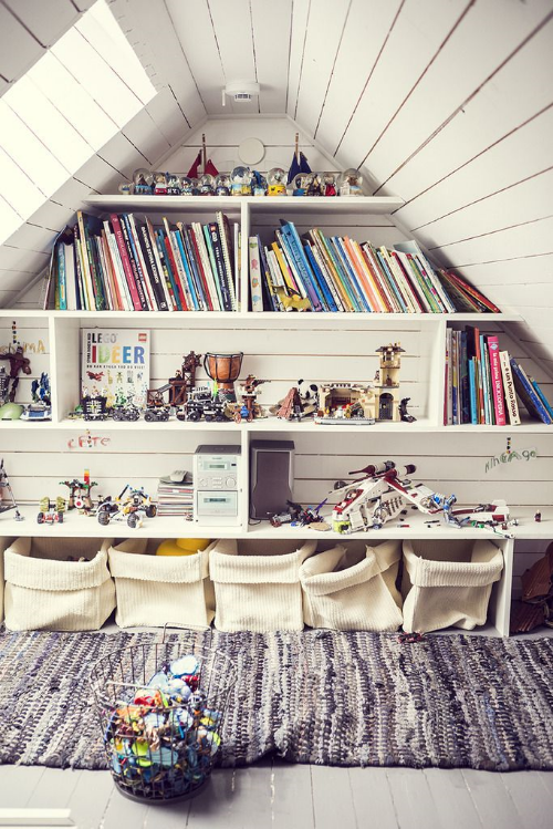 13 Sublime Attic Transformations - The Sky's the Limit! The Entertaining House. Image via  The Way We Play.