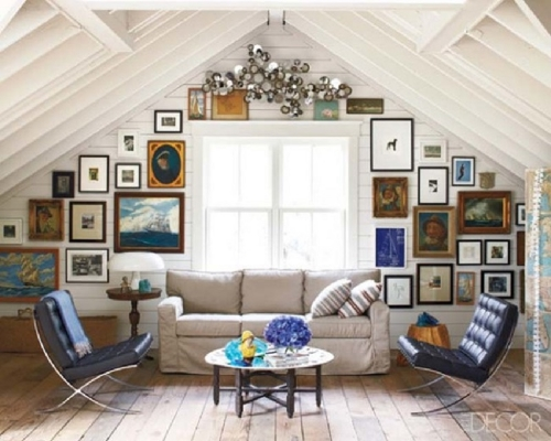 13 Sublime Attic Transformations - The Sky's the Limit! The Entertaining House. Image via ElleDecor