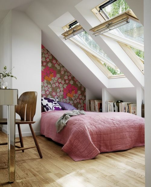 13 Sublime Attic Transformations - The Sky's the Limit! The Entertaining House. Image via Tumblr