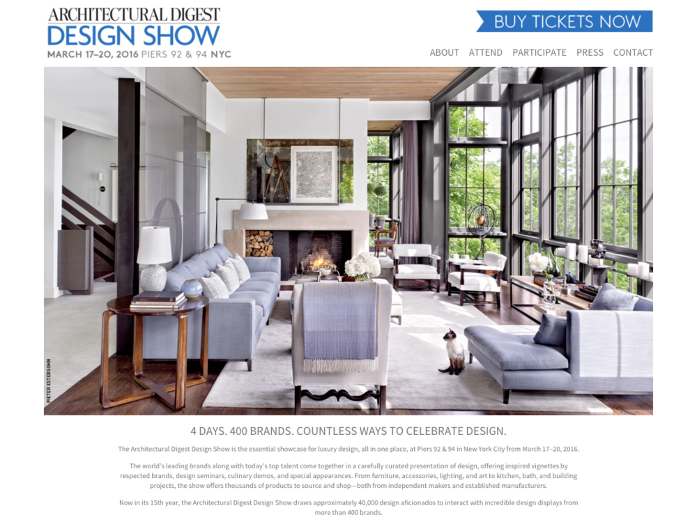 Architectural Digest Design Show 2016 Will you be there The
