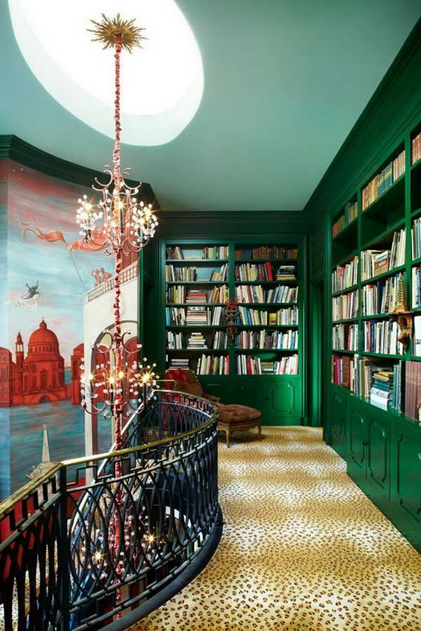 Stunning ways to incorporate your book collections into your home decor. Image via Harpers Bazar