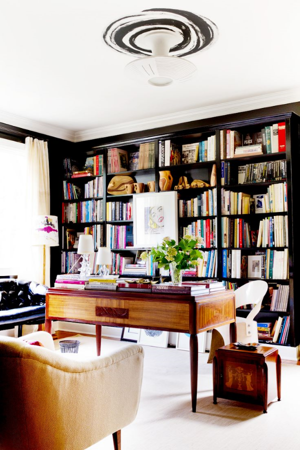Stunning ways to incorporate your book collections into your home decor. Image Apartment Therapy