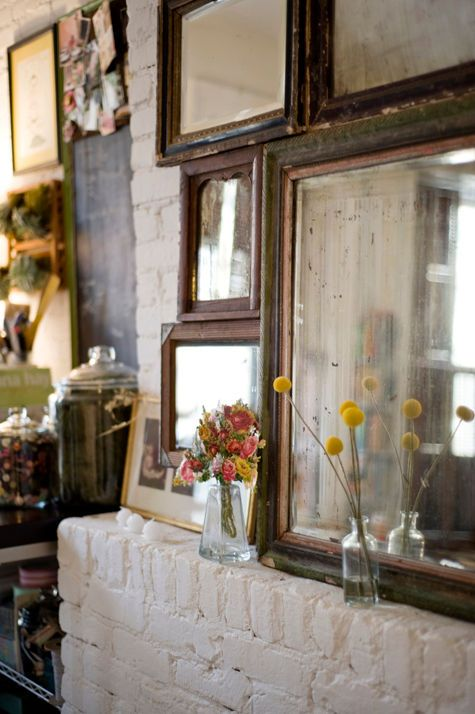 Through the Looking Glass :: Mirrors in Home Decor. Original Image Source Unknown.